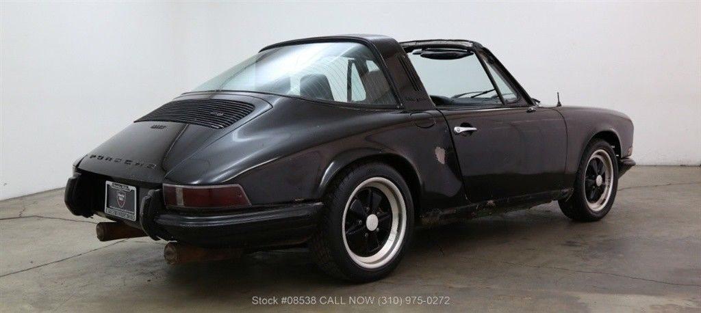 desirable project car 1972 Porsche 911T Targa