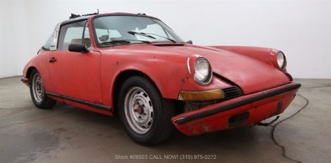 sitting for many years 1969 Porsche 911E Targa for sale