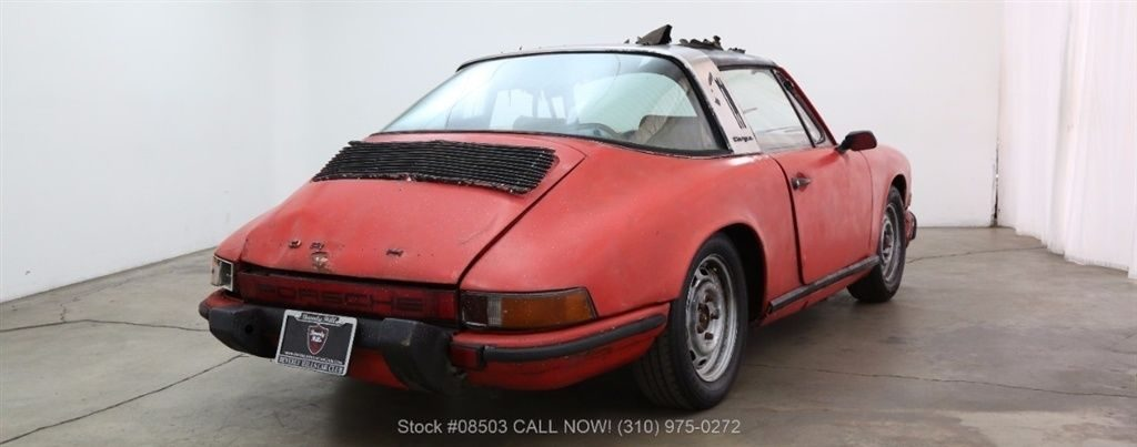 sitting for many years 1969 Porsche 911E Targa