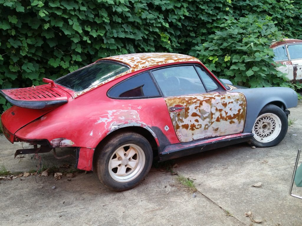 1968 Porsche 912, Special Order 96024 Silver Metallic Paint, 911 Turbo body